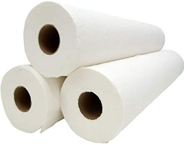 """3 X Massage Table Paper Couch WHITE ROLL 2PLY : 20""""(40 Metres) Long 500mm"""