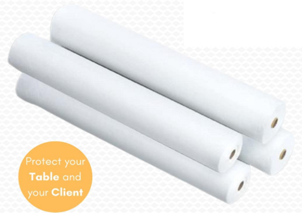 """4 X Massage Table Paper Couch WHITE ROLL 2PLY : 20""""(40 Metres) Long 500mm"""