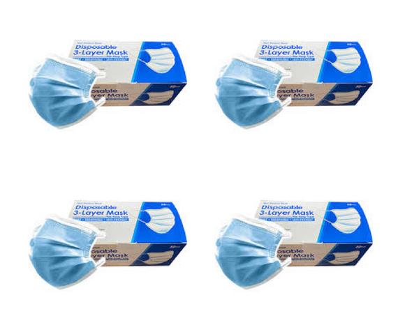 3 Layer Disposable Face Masks - 4 Box of 50PCS