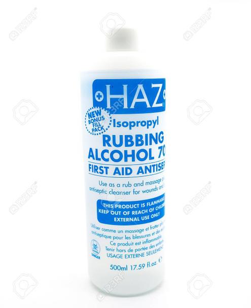 Haz Isopropyl Rubbing Alcohol 70% - First Aid Antiseptic 500ml