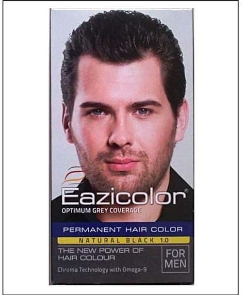 EAZICOLOR PERMANENT HAIR COLOR NATURAL BLACK 1.0