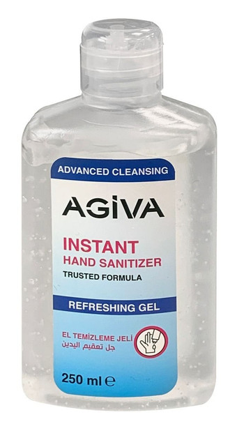Agiva Instant Anti Bacterial Hand Sanitiser Gel Advanced Cleansing 250ml