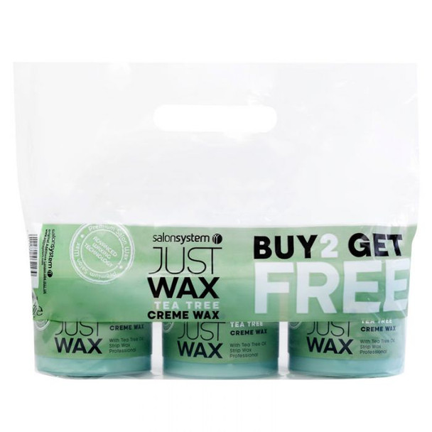 Salon System Just Wax Tea Tree Creme Wax Special Offer Pack