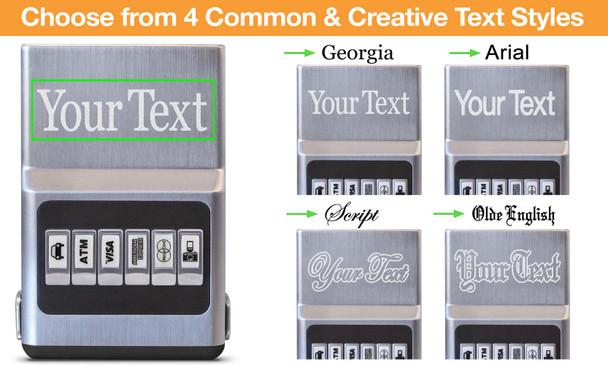 Black Hybrid Center Text