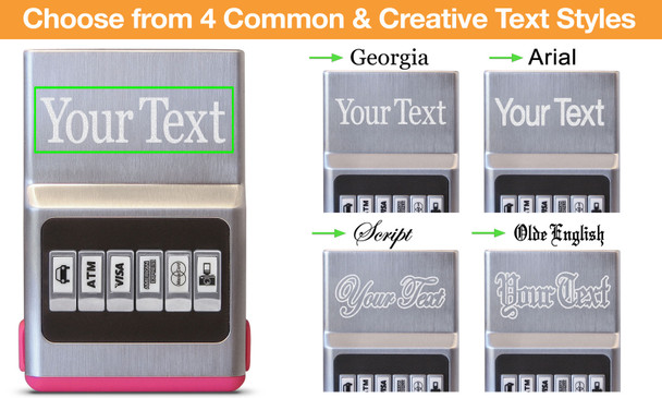 Pink Hybrid Center Text