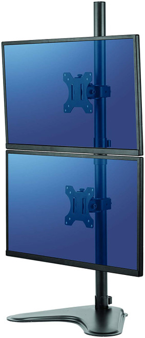 Free-standing design allows dual monitors to be used in spaces that do not allow a clamp or grommet mount. 8044001