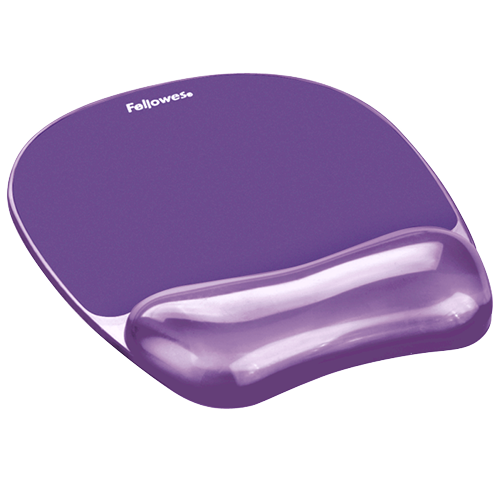 Fellowes Mouse Pad & Wrist Rest Gel Crystals Purple 91441