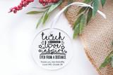 Teach Love Inspire Christmas Clear Acrylic Christmas Decoration
