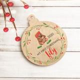 Wombat Plywood Christmas Decoration