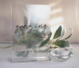 Rectangle Grazing Table Wedding  acrylic sign