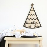 Adventure is out there tribal/boho tee-pee timber wall hanging