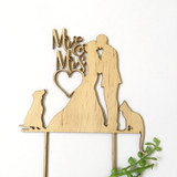 Mr & Mrs silhouette Dog and Cat