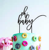 Oh baby - baby shower  (thinner font) - Wood Cake Topper / wooden topper
