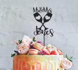 A Wedding Couple Wine Glasses - Mr & Mrs Surname