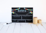 Balloons First Day of school - personalised blackboard resuable sign