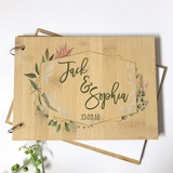 Wedding guest book - personalised with natives