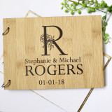 A Monogram Wedding guest book - personalised with Monogram