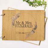Boho Wedding guest book - personalised