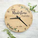 Family Laurel Clock