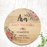 Birth Announcement - Floral