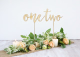 Wood free standing wedding table numbers