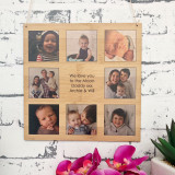 Father's Day personalised bamboo wall hanging
