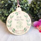 Christmas Bauble - Teacher Gift Wreath
