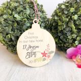 Christmas Bauble - First Christmas New home Christmas Arrangement