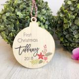 Christmas Bauble - First Christmas Christmas Arrangement