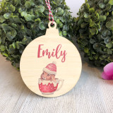 Christmas Bauble - Personalised bunny