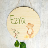 A little bear  bamboo plywood wall hanging
