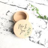 Modern Olive Leaves  - Wedding Ring Box