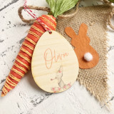 Personalised Easter Tag - Celebration Bunny