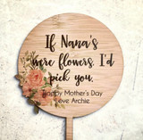 Planter Stick -  Mothers Day Gift - Floral