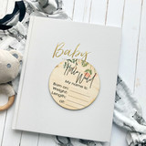 Floral new baby hello world birth announcement