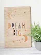 Dream Big Wood Wall hanging