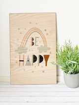 Be Happy Wood Wall hanging