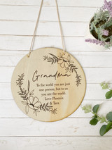A Mothers Day Plaque - To the world