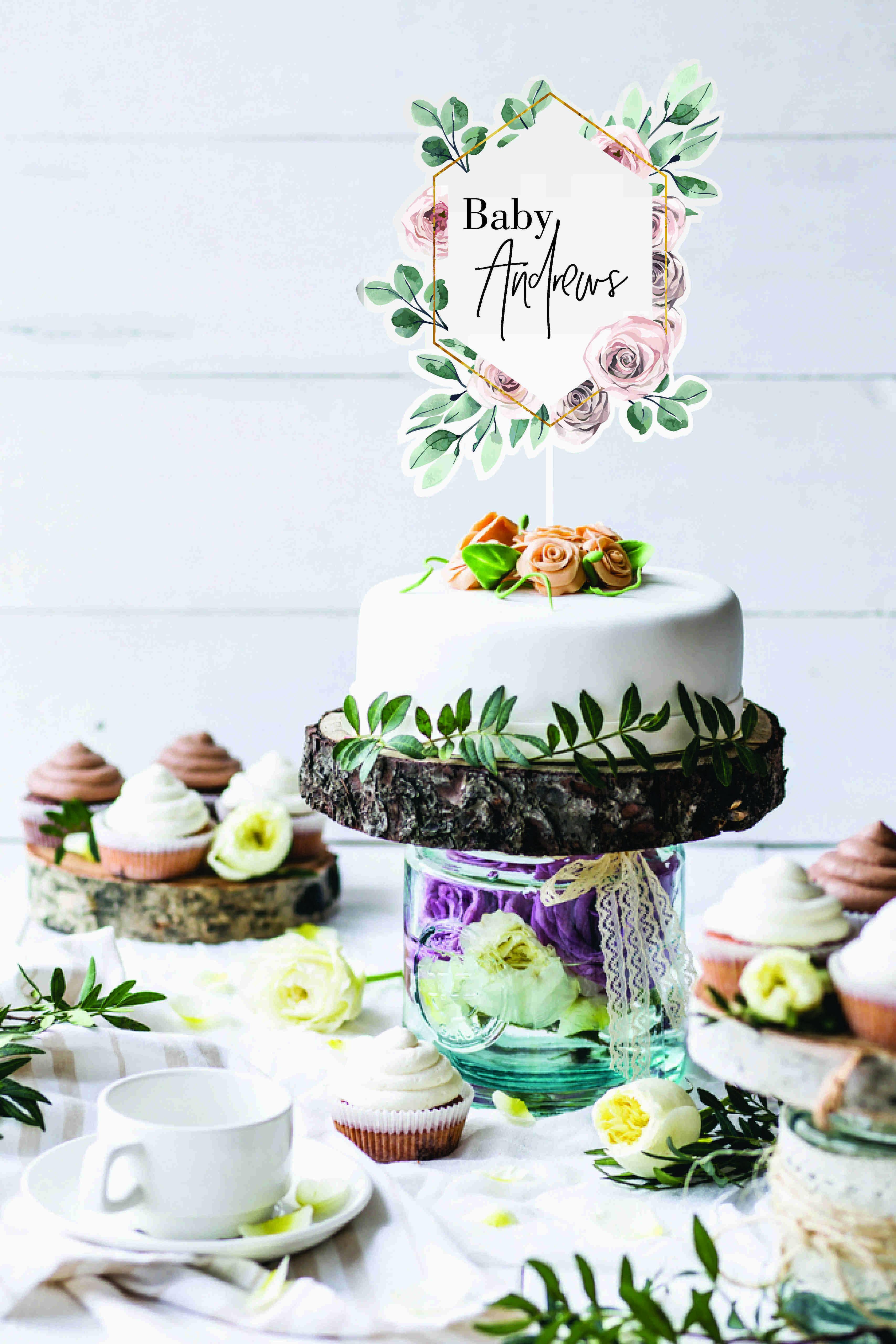Floating Baby Shower Cake topper