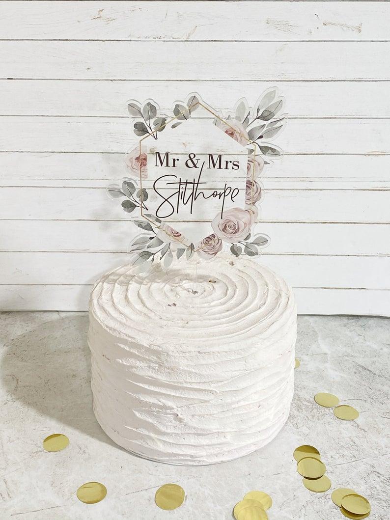 Floating Wedding Cake topper