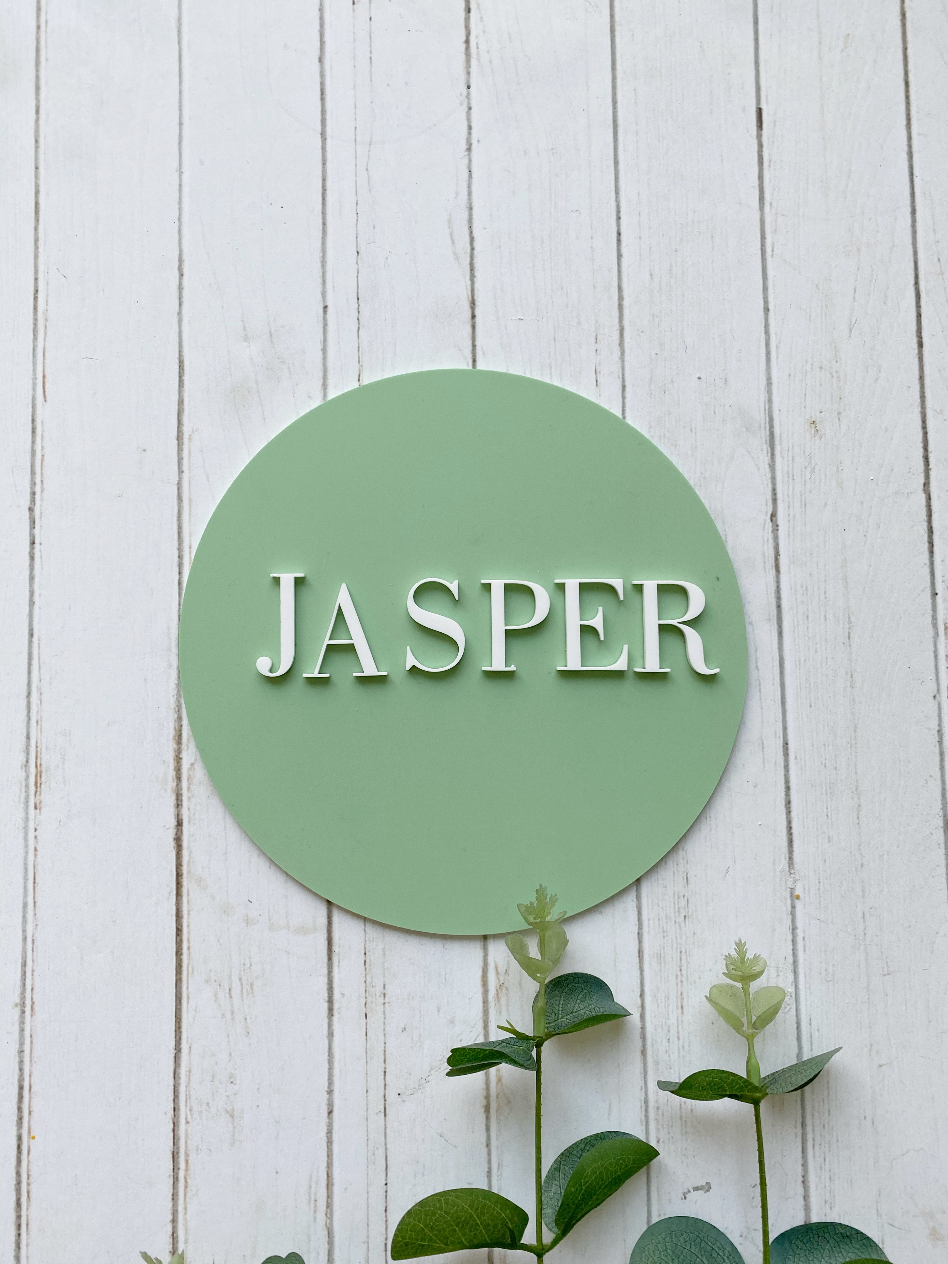 Modern Round Name Sign