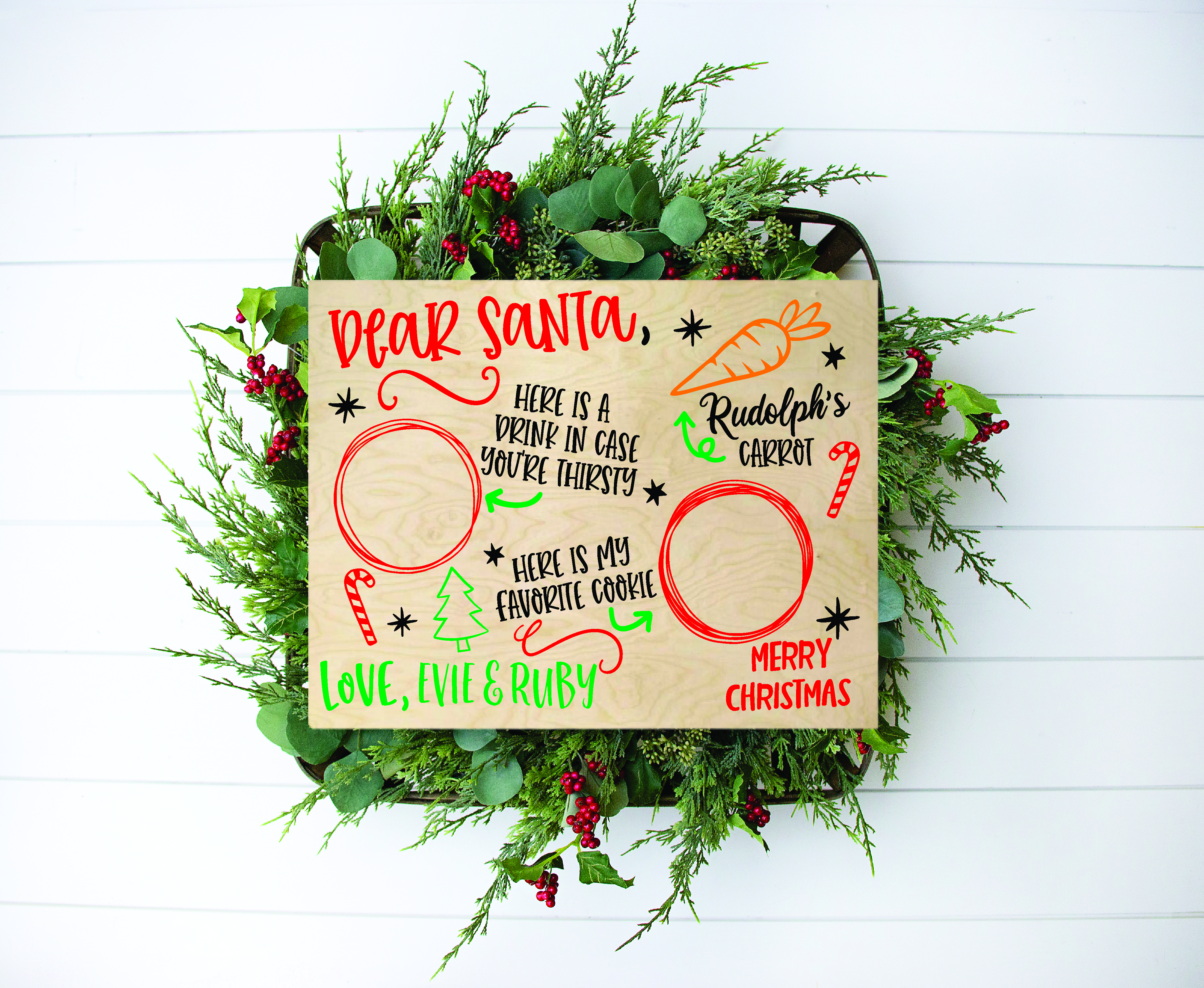 Personalised Santa's treats board