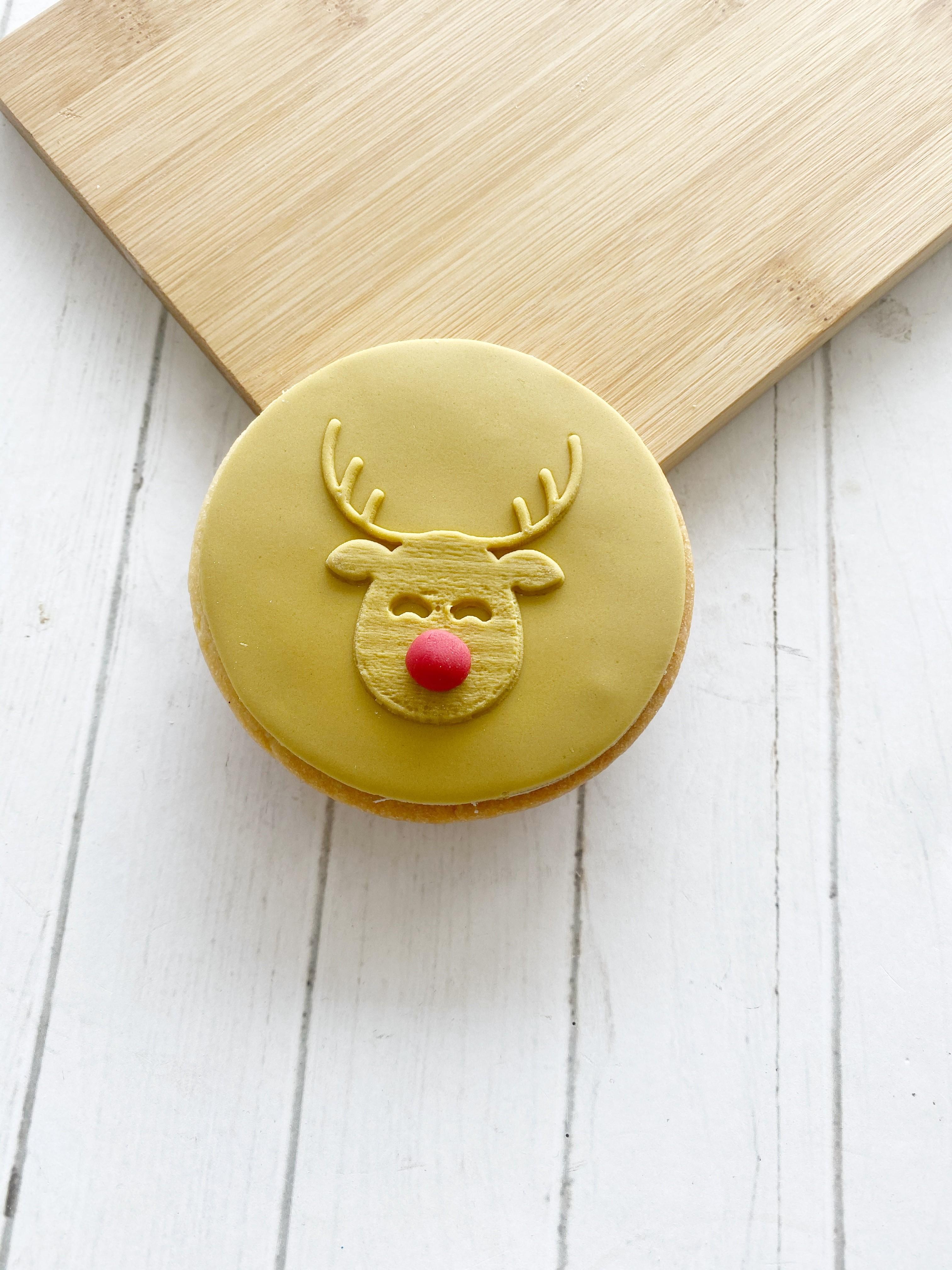 Christmas Rudolph  - Fondant Stamp