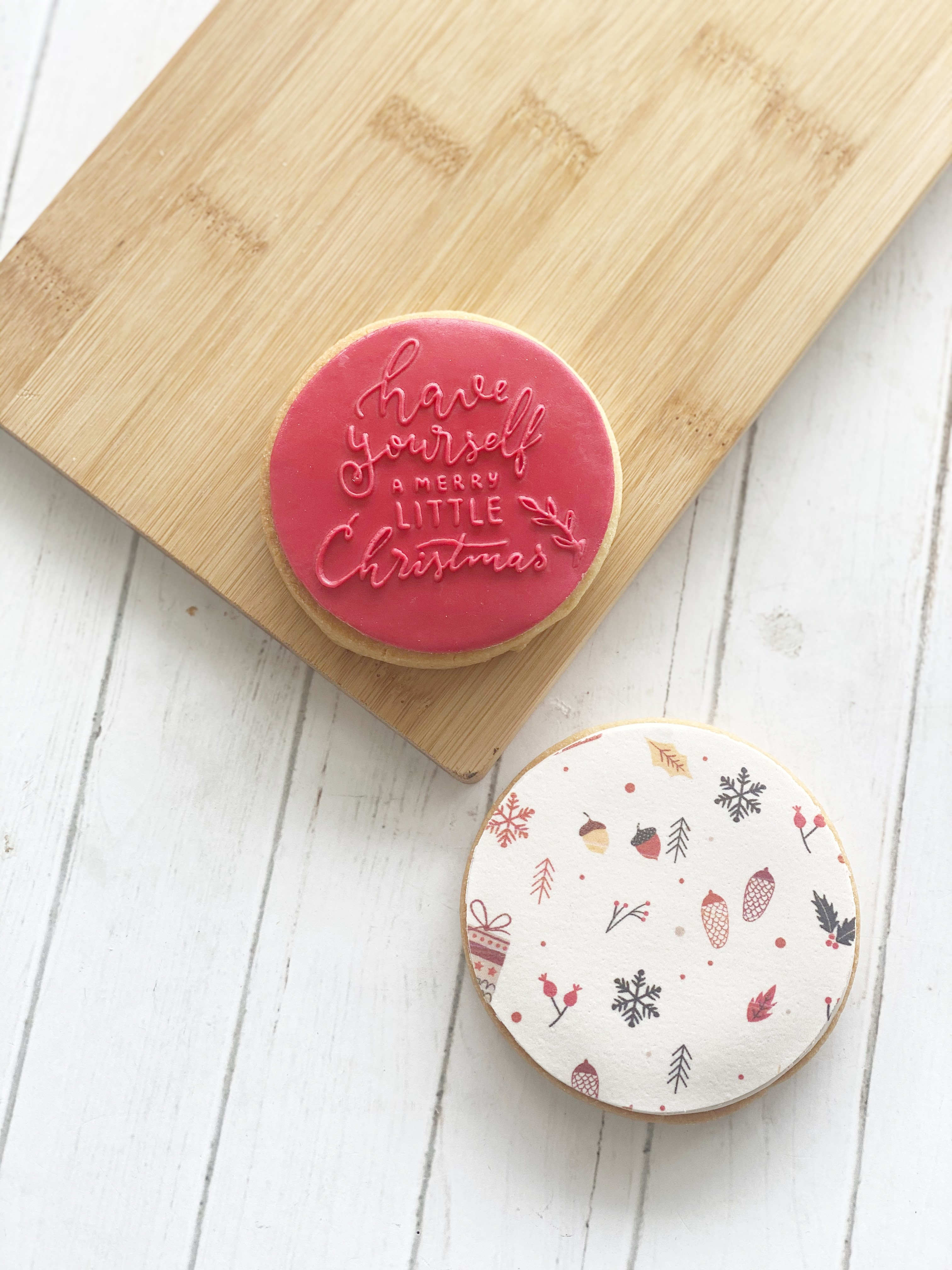 A merry Little Christmas - Fondant Stamp