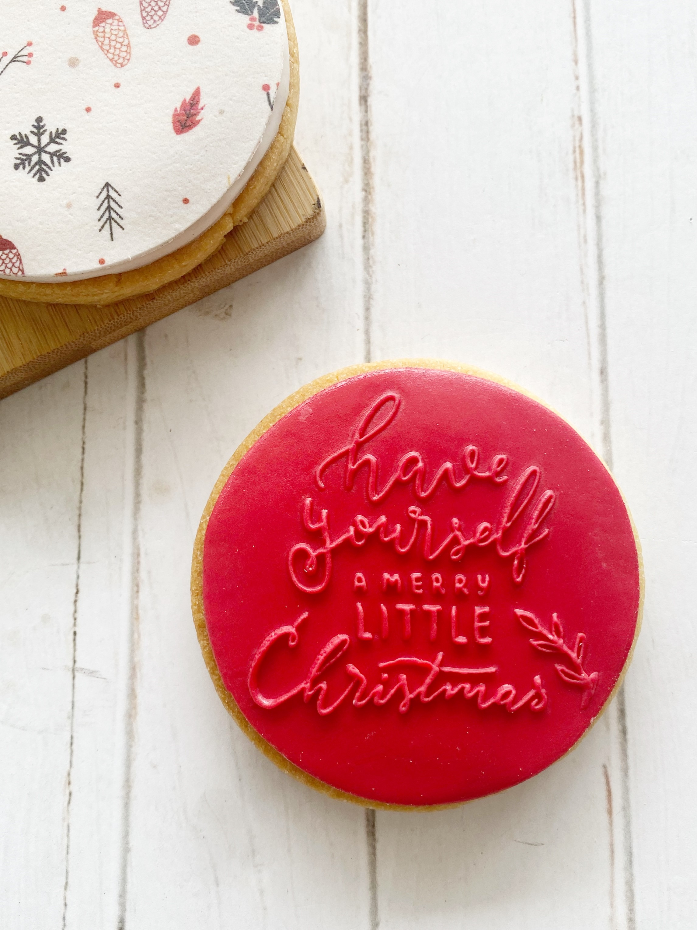 Merry & Bright - Fondant Stamp
