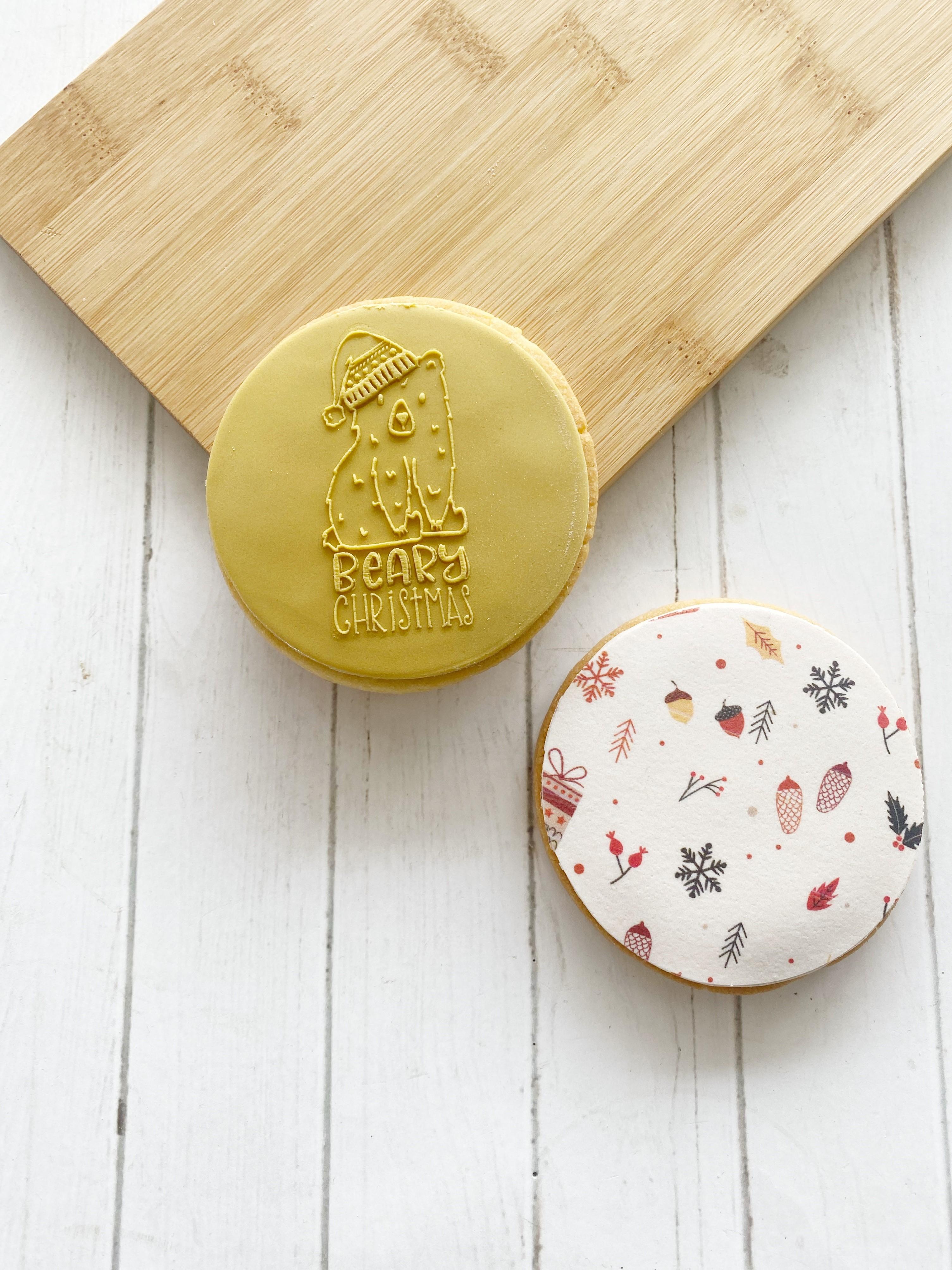 Beary Christmas - Fondant Stamp