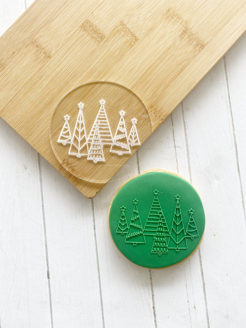 Christmas Trees - Fondant Stamp