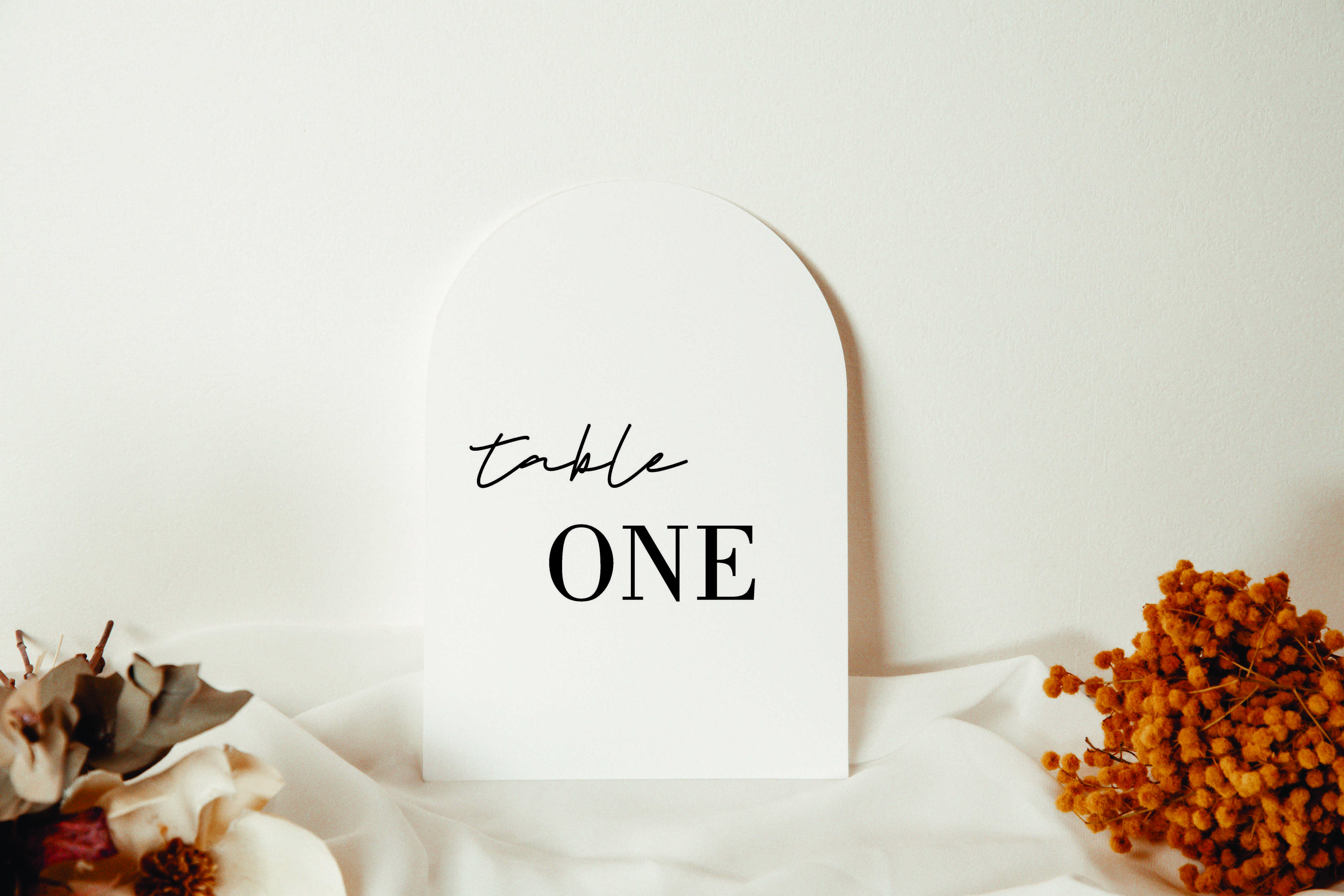Modern Table Number acrylic sign