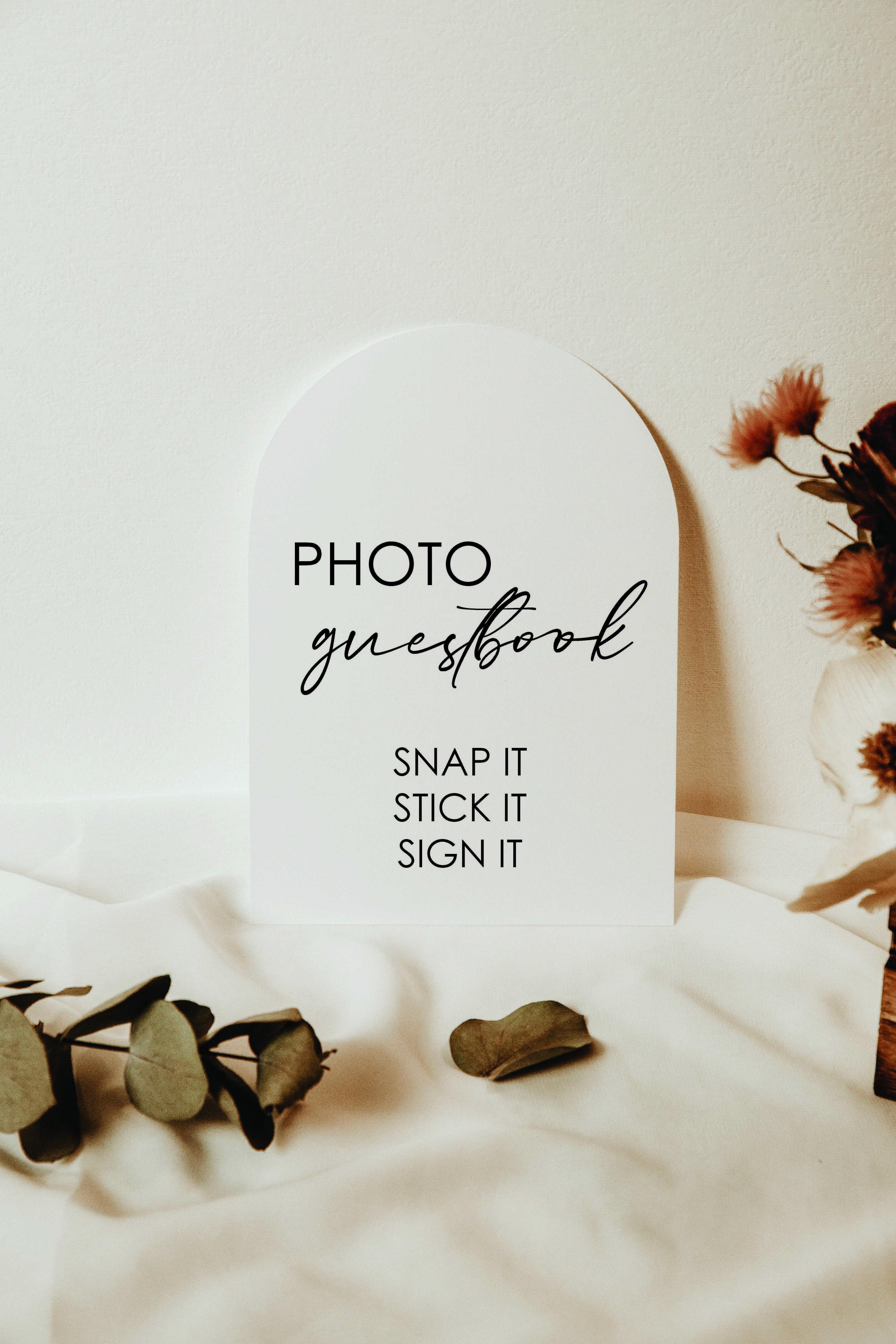 Wedding Photo Guest book acrylic sign