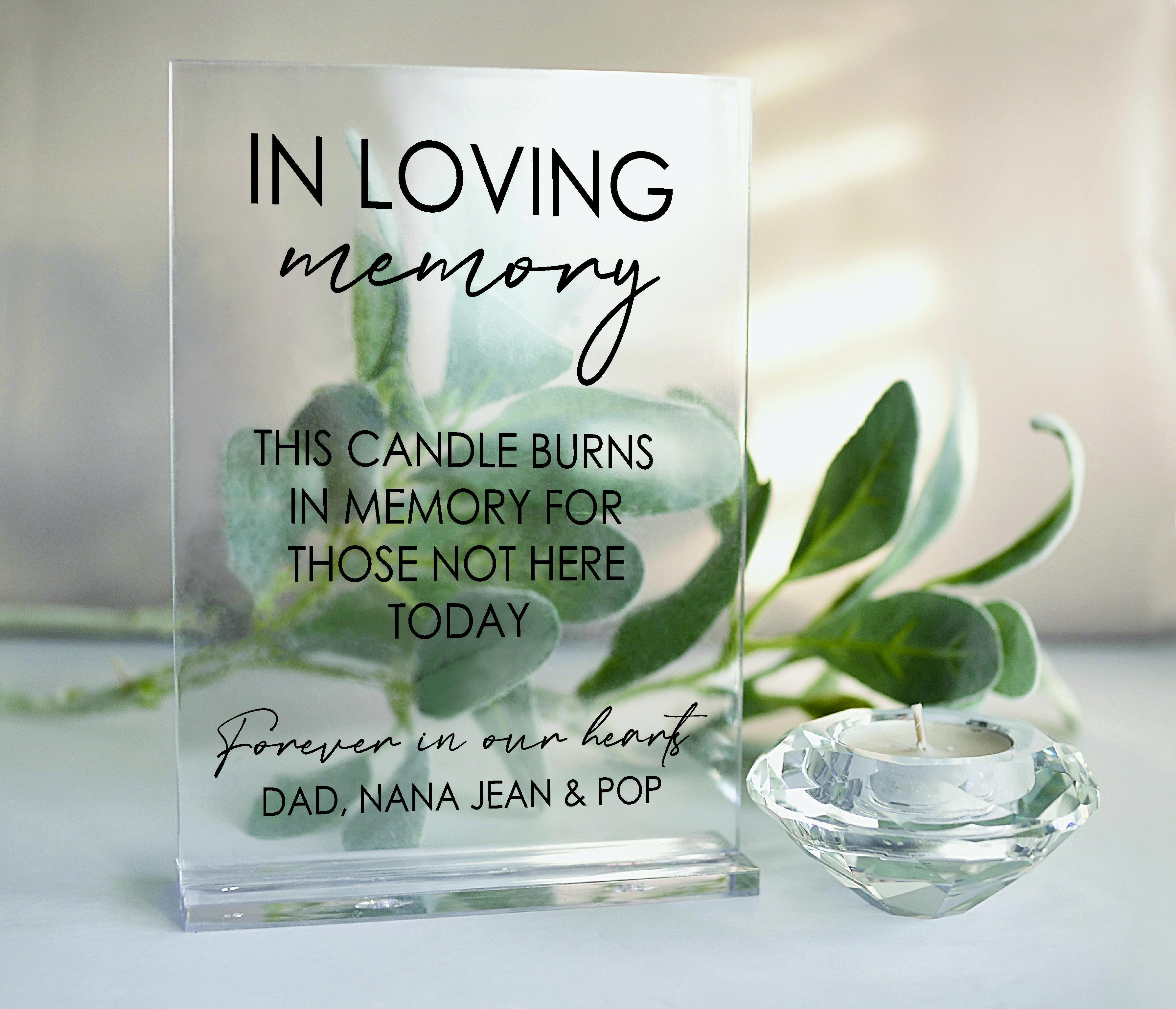 In loving Memory Wedding  acrylic sign